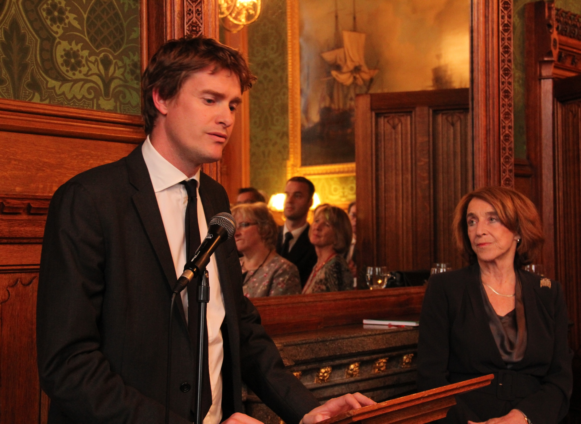 Tristram Hunt and Baroness Pitkeathley