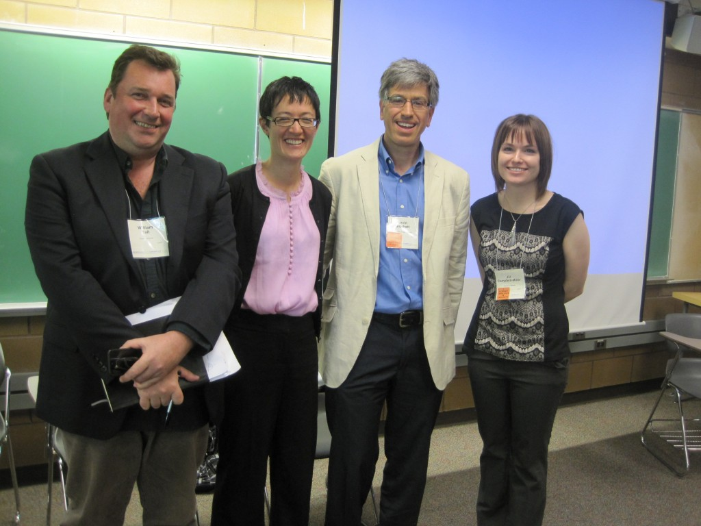 Will Tait, Laura Madokoro, Kevin Brushett, Jill Campbell-Miller at the 2013 Annual Meeting of the Canadian Historical Association at the University of Victoria