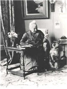 Mrs. Bailey and her dog, c. 1901. Reproduced from Hidden Lives Revealed