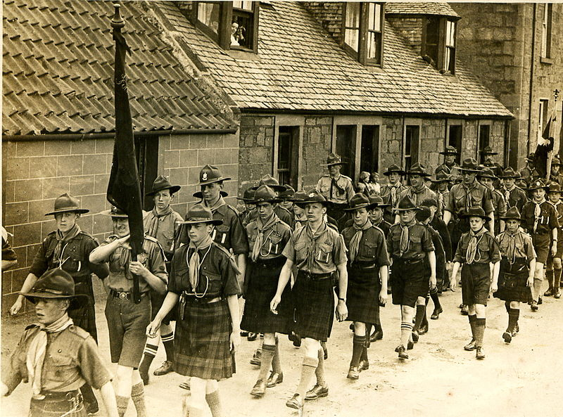 Boy Scout Parade in Scotland
